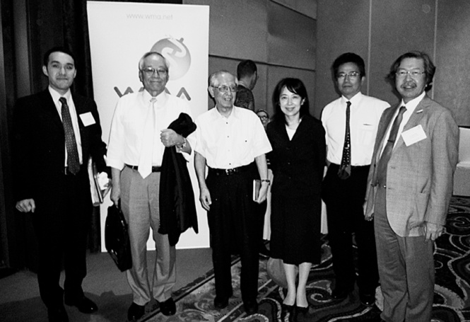 Fig. 1 Japanese delegates to the 194th WMA council session in Bali, Indonesia, in April 2013 Left to right: Author, Dr. Yokokura, Prof. Kuroyanagi, Ms. Imamura, Mr. Noto and Dr. Ishii.